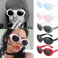 Retro Clout Goggles Unisex Sunglasses Retro Rapper Oval Shades Grunge Sunglasses