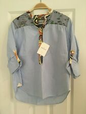 La Prestic Ouiston Womens Half Button Down Shirt Size Small