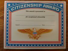 Educational & Teaching Supplies - Colorful Patriotic US Citizenship Award