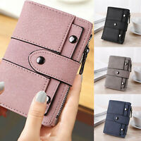 Women Short Money Purses Small Wallet Ladies Leather Folding Coin Card Holder