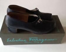 Salvatore Ferragamo Anni '70 scarpe decolletè blu pelle numero 38 vintage