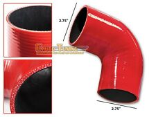 """2.75"""" Silicone Hose/Intake/Intercooler Pipe Elbow Coupler RED For Cadillac"""