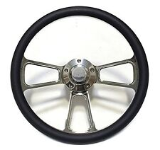 "1968 Camaro 14"" Billet and Black Steering Wheel Kit, with SS Horn, Adapter Kit"