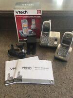 vtech 5.8 ghz cordless handset Phones mi6870 Answering Machine Caller iD