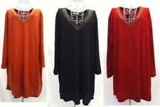 Cotton/Polyester Long Sleeve Dresses for Women with Smocked