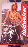 Vintage Beer Poster Advertising Ad Bud Budweiser Sturgis 1996 33 x 20 Inches l