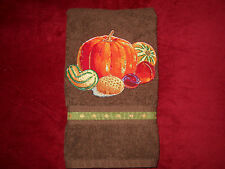 Thanksgiving or Fall Hand Towel for Bathroom or Kitchen Harvest Bounty New