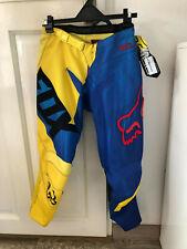 Pantalon Motocross enfant Fox 2015 180 Vandal Jaune Bleu