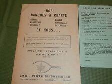 1961 Banque Canadienne Nationale - Banque Provinciale du Canada Info Booklet