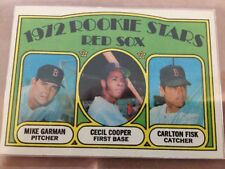 Carlton Fisk 1972 Boston Red Sox Topps Rookie Card