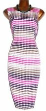 Viscose Scoop Neck Wiggle, Pencil Spotted Dresses for Women