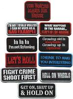 Humor funny gag slogan retro biker rockabilly new iron-on patch your choice SL-2