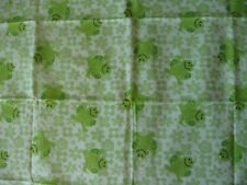 Frogs flowers Green Flannel Cotton Fabric Baby craft sewing patchwork rug quilt