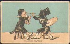 Chromo Maison Calame Rouen Pierrot jeux enfantins peintre jeux scène enfantine