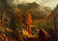 Oil painting Thomas cole  View in the White Mountains nice landscape on canvas