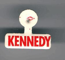 1960 John F. KENNEDY pin JFK Name Logo Tab badge Style CAMPAIGN pinback