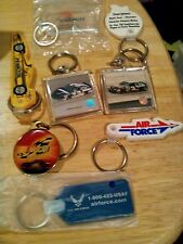 Lot of 8 Different Key Chains including Dale Earnhardt and Jr