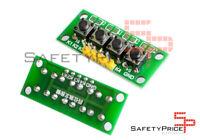 Modulo teclado 4 pulsadores 5 pin Arduino Raspberry protoboard PCB
