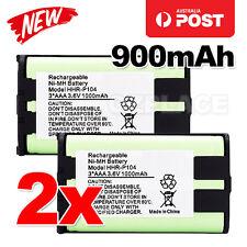 Premium J 2x Cordless Phone Battery 900mAh for Panasonic HHR-P104 Ni-MH 3.6V