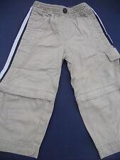 Boys Size 2 Baby Gap brown cargo pants shorts zip offs