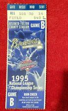 MLB 1995 Game B Atlanta Braves Ticket Stub Atlanta-Fulton Co. Stadium Championsh