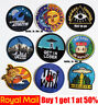 Popular Round Sew Iron On Patch Badge Transfer Fabric Jeans Applique Crafts