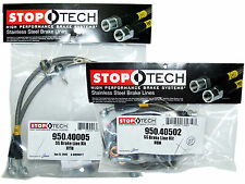 Stoptech Stainless Steel Braided Brake Lines (Front & Rear Set / 40005+40502)