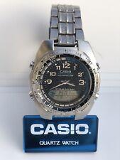 Casio AMW-700 Fishing Gear Vintage Wrist Watch Moon Phase Dual Time Illuminator