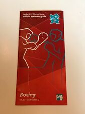 **LONDON 2012 OLYMPICS OLYMPIC GAMES BOXING OFFICIAL SPECTATOR GUIDE*
