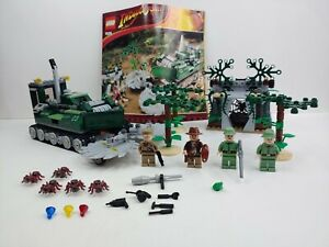 LEGO Jungle Cutter 7626 Indiana Jones 100% COMPLETE 4/4 Figures No Box