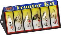 Mepps K1 Trouter Lure Kit, Assorted Plain Treble Hook, Single Hook, 1 per Pack