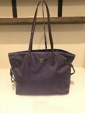 100% Authenitc PRADA nylon shopper in purple MSRP $1100.00