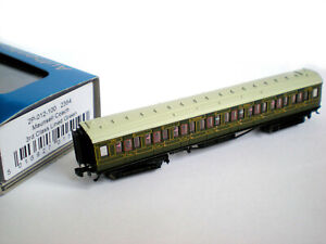 Dapol N Gauge SR Maunsell 3rd Class Lined Green Coach (new condition, boxed)