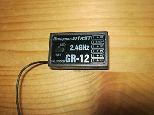 Graupner 2,4 Ghz  Empfänger GR 12 HoTT  No 33506
