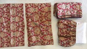 Ralph Lauren Jardiniere Paisley Duvet & Bed Skirt King Size 4 Pcs Pillow Shams