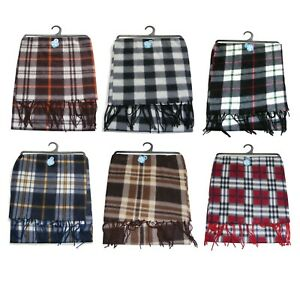 Thin Unisex Soft winter scarf Check Tartan Pattern Men Or Women
