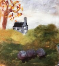 Autumn Textile Art Wool Painting Felt Picture