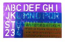 Artbox 4 PEZZI DEL SET Stencil Lettere Alfabeto Craft numero apprendimento LETTERING