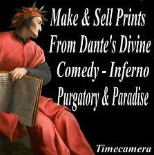 Make & Sell Prints - DANTE ENGRAVINGS (INFERNO ETC) - Restored Images DVD-Rom