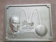 "Vintage 1983 McDonald's Ray Kroc Restaurant Wall Plaque Sign 18"" X 14"" RARE!"