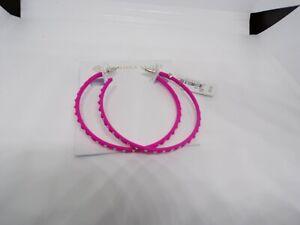 NWT Kendra Scott Val Matte Hoop Earrings Aqua Lilac White Magenta MSRP $75