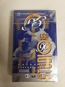1996 Leaf Studio MLB Baseball Factory Sealed box 24 packs Gold Press Proof?
