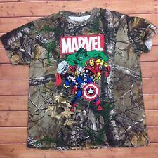 Marvel Realtree Camouflage T-Shirt Mens XL The Incredible Hulk Captain America