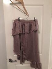 Asos Curve Funky Asymmetrical Ruffle  Skirt Size 18 Elasticated Waist