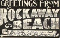 Rockaway Beach Long Island NY Large Letter Multi-View c1910 Postcard