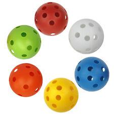 6x Multi-Color Plastic Golf Training Balls for Driving Range/Swing Practice