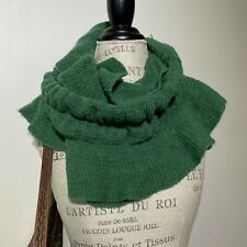 Womans Green Soft Knit Infinity Winter Scarf
