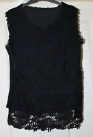 Black Lace Effect Top Size 12