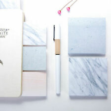 3 Set - Natural Marble Stone Mini Sticky Notes - Self-Adhesive Memo Pad Post It