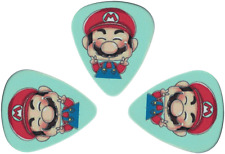 73021 Super Mario Brothers Peace Fingers Nintendo Blue Guitar Pick 3 Pack Set
